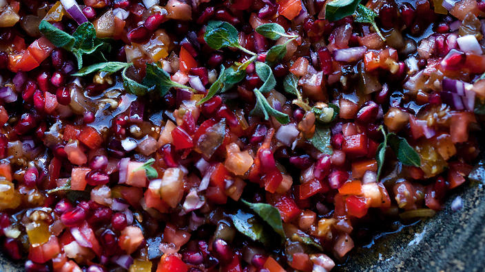 Tomato, Pomegranate And Sumac Salad Recipes — Dishmaps