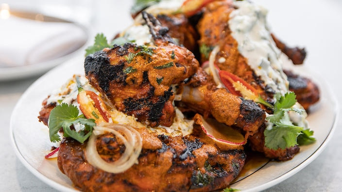 Tandoori barbecue chicken to die for.