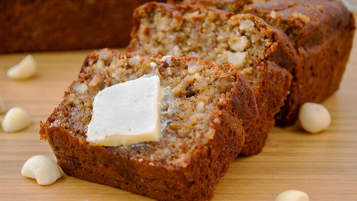 Nutty banana bread
