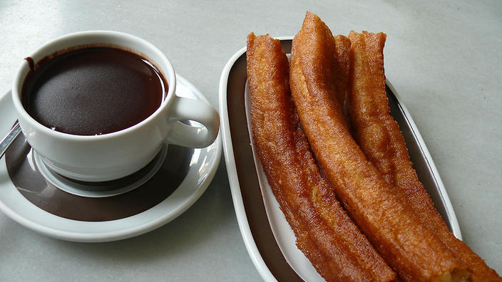 Valor hot chocolate is the secret ingredient in Spain's thick, syrupy hot chocolate.
