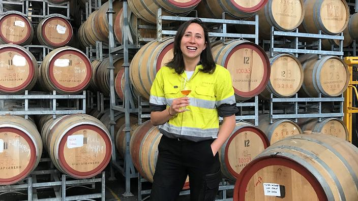 Carlie Dyer, has worked at Melbourne's Starward Distillery for the past two years.