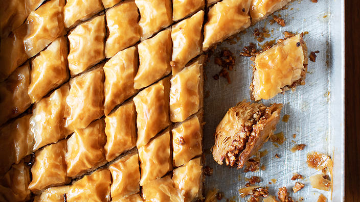Yiayia Marina S Baklava Pastry Recipes Sbs Food