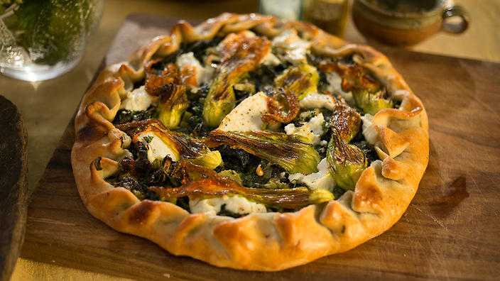 Swiss chard and young cheese tart