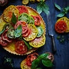 Ricotta and balsamic tart with heirloom tomatoes