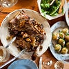 Greek-style lamb shoulder