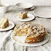 Classic carrot cake with caramel frosting