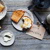 Coconut toast with ricotta and honey