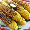 Khao Phot Ping - Grilled corn with salty coconut cream