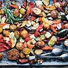 Mediterranean tray bake with haloumi