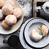 Coffee custard doughnuts