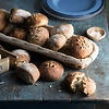 Seeded wholemeal sourdough rolls