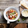Slow-cooked beef and tomato with gnocchi
