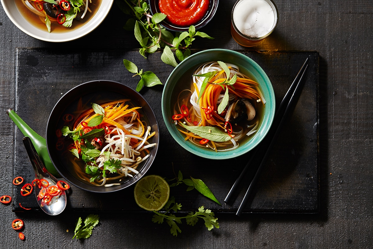 Vegetarian Pho With Shiitake Soup Recipes Sbs Food