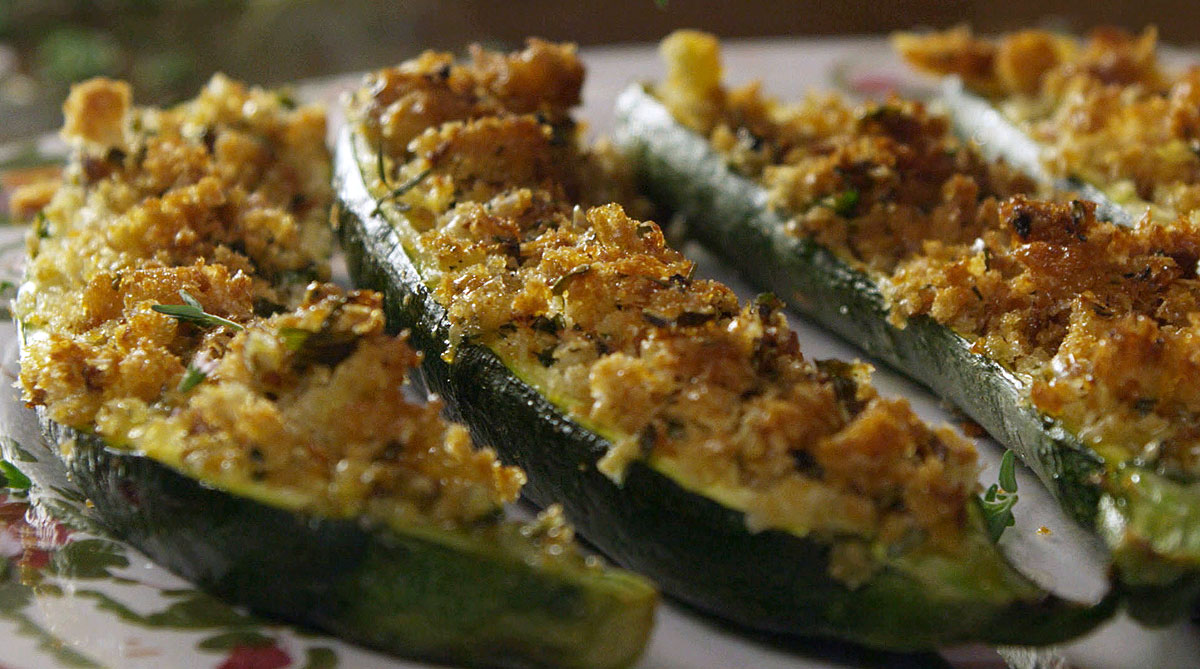 Zucchini gratin | Stuffed zucchini | Italian recipes | SBS Food