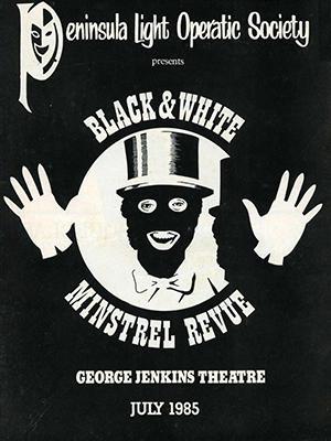 black white minstrel revue