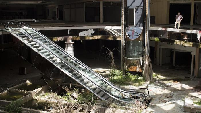 Abandoned ghost mall