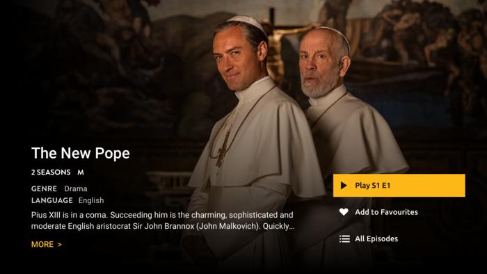 New Pope SBS On Demand Telstra TV