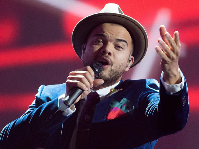 Guy Sebastian during rehearsals for the Eurovision Song Contest