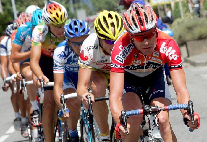 Cadel Evans at his first Tour de France in 2005 which he finished eighth overall (AAP)