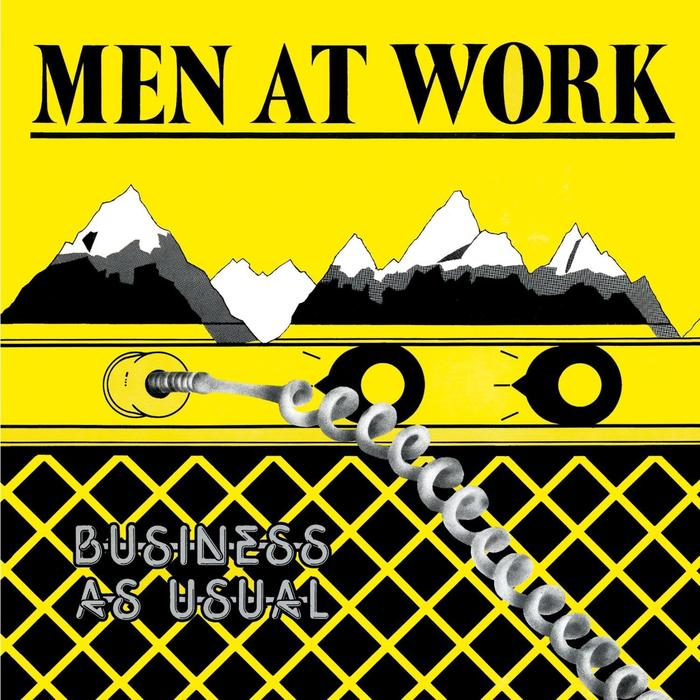 men at work business as usual album cover
