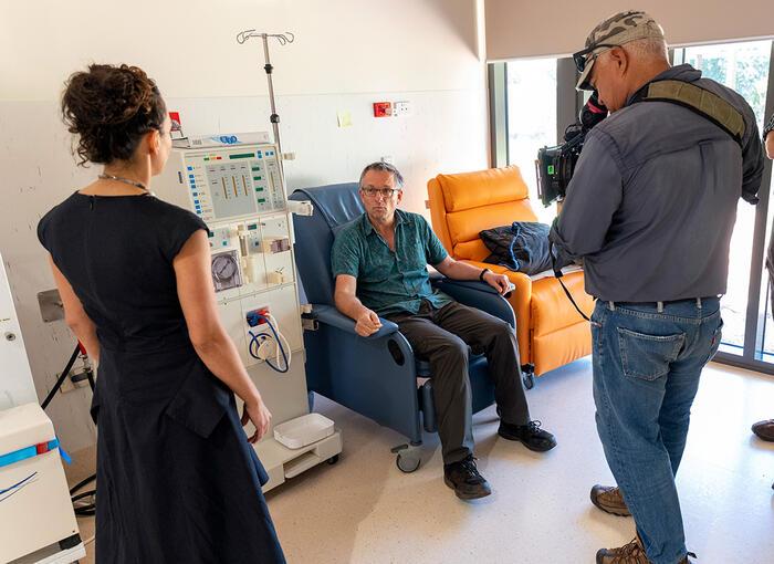 Michael Mosley filming Australia's Health Revolution