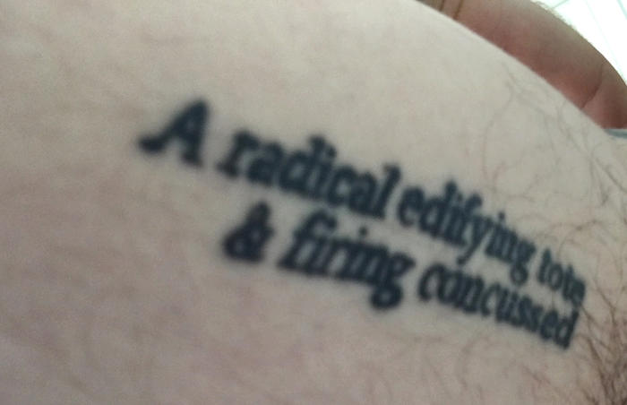 The author's anagram tattoo