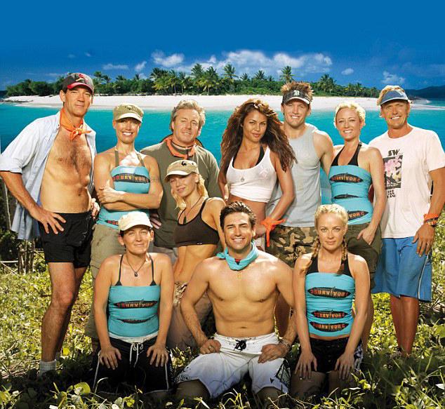 The Cast of Australian Celebrity Survivor - including David Oldfield (far left)