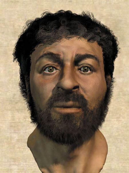 Jesus face composite