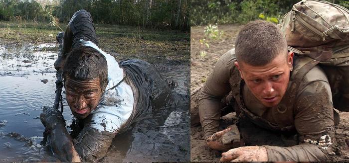 Bear Grylls SAS Who Dares Wins mud crawl
