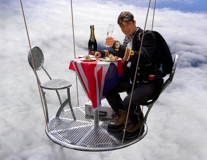 Bear Grylls skydiving