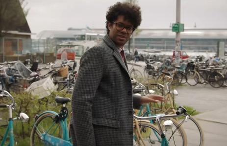 Richard Ayoade Amsterdam bikes