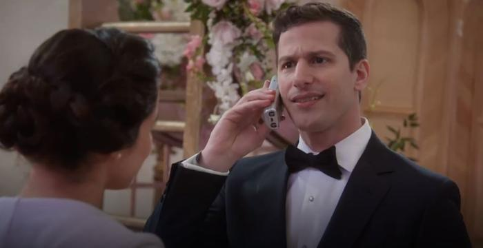 Brooklyn Nine Nine wedding - phone call