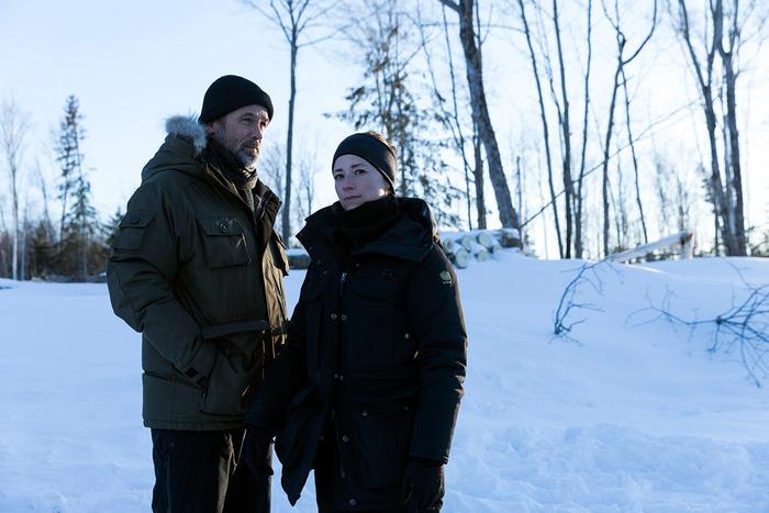 Billy Campbell and Karine Vanasse in Cardinal season 4