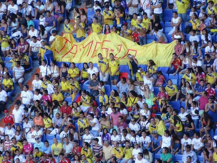 Colombian football fans
