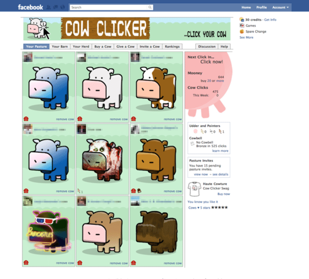 Cow Clicker Facebook