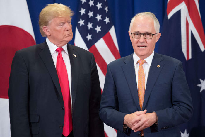 Donald Trump and Malcolm Turnbull at the opening of the ASEAN summit in Manila in November 2017.