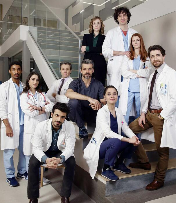 The cast of Doc