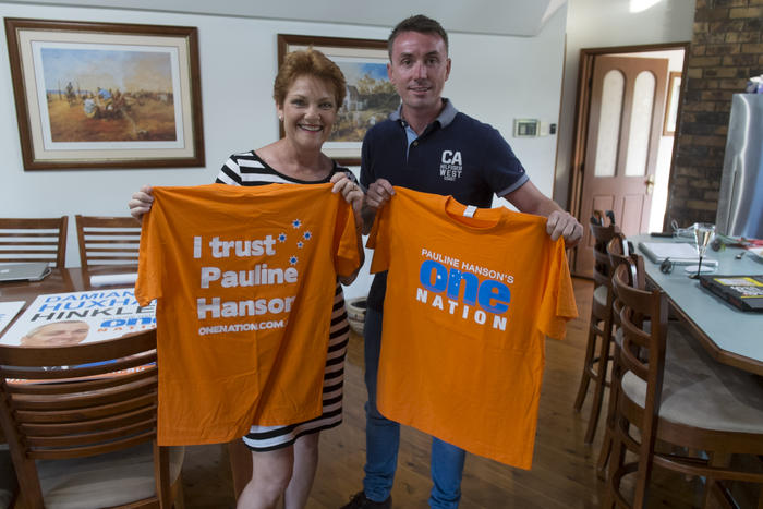 Pauline Hanson and James Ashby
