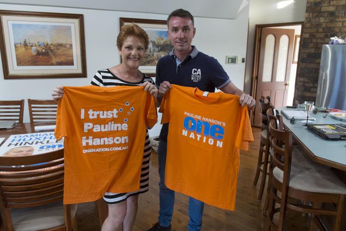Pauline Hanson campaign t-shirts