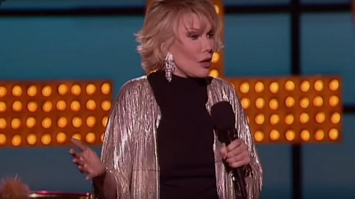 Joan Rivers performing stand up