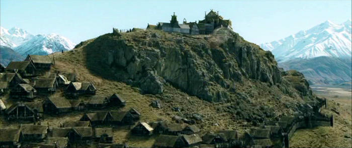 Mount Sunday, Canterbury, Edoras in The Lord of the Rings