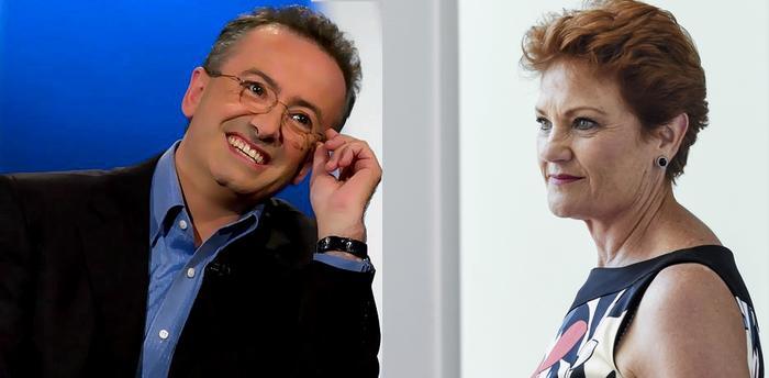 Andrew Denton and Pauline Hanson