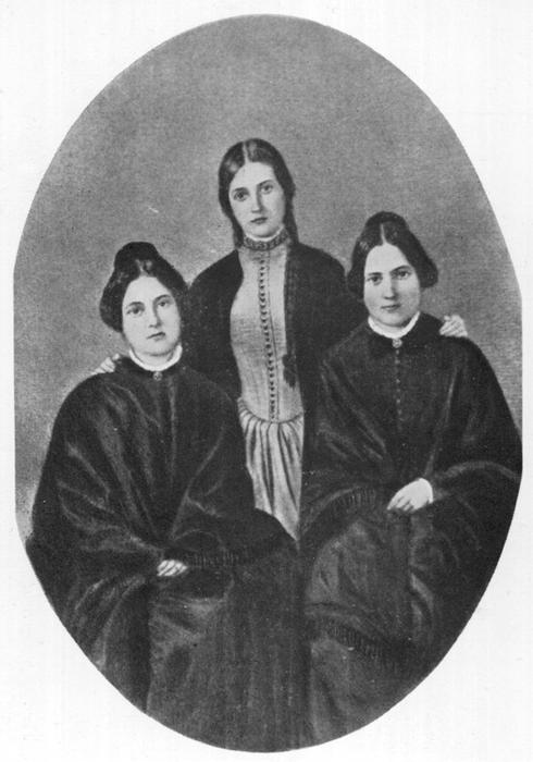 THE FOX SISTERS Margaretta, Kate and Leah pioneer spiritualists        Date: 1852