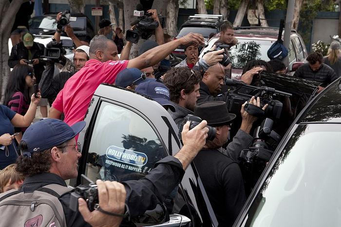Los Angeles Paparazzi Lindsay Lohan