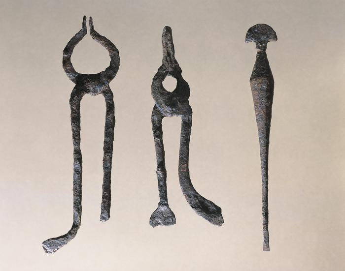 France, Vertillum, Instruments used for iron work: pliers and chisel