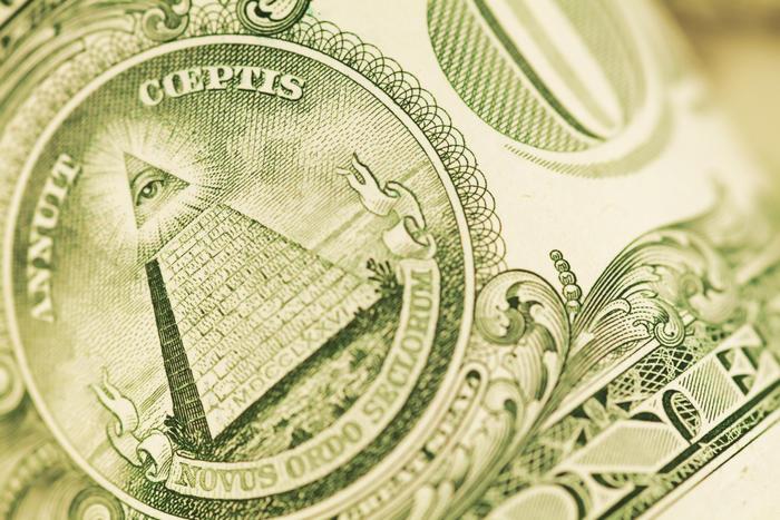 Close Up on a US Dollar Bill