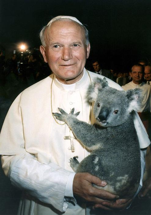 Pope John Paul II With Koala