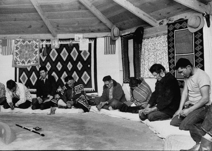 Navaho Indians at Peyote Ceremony