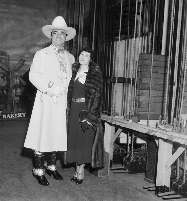 Mr. and Mrs. Tom Mix at Benefit Show