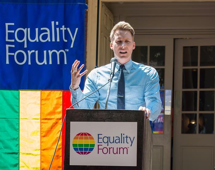 Dustin Lance Black Delivers Keynote Address At Philadelphia Conference Historic Marker Dedication